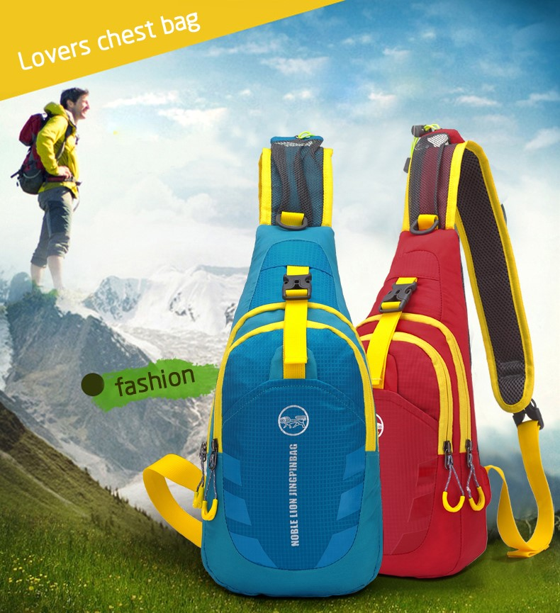 Outdoor Waterproof Shoulder Sling Backpack Sports Cross Body Chest Pack Hiking Cycling Bicycle high quality sling Chest Bag