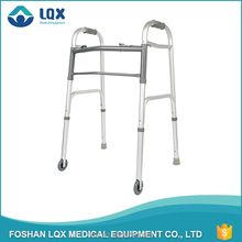 Health Care Products Folding Aluminum Walking Aid with 3' castors for disabled