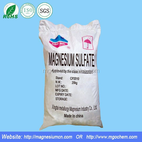 Import and export Pharmaceutical grade magnesium sulfate