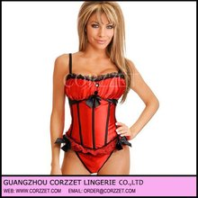 2012 Wholesale Ladies Shaper Sexy Wonder Woman Corset with red thong
