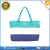 Promotion Women's Canvas Hand Bag Striped Beach Bag Fashion Lady Tote Bag