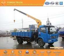 Dongfeng 4*2 truck mounted crane 3.2tons straight arm