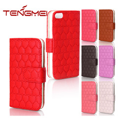 heart leather phone case for iphone leather case