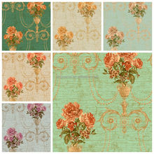 golove 2016 newest modern high quality non woven backed pvc flower wallpaper