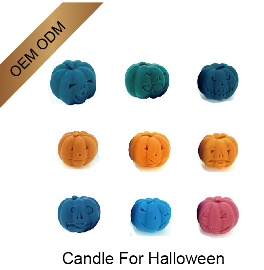 OEM Halloween Pumpkin Shaped LED Candles Factory Price
