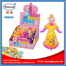 plastic Clown princess toy with candy plasitc doll toy