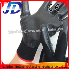 13g Black Nylon Nitrile Half Coated Work Gloves Price