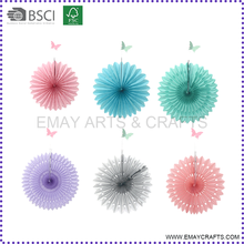 Cheap Handmade Wedding Party Decoration Hanging Round Tissue Paper Fan