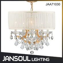 Zhongshan Lighting Factory Handmade Glass Crystal Chandelier Lamp with Lampshade