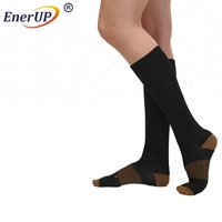 custom high travel knee copper compression socks