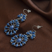 925 silver jewelry iron big earrings Good quality with low price