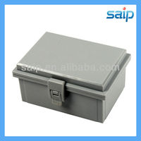 2013 Newest IP66 ABS small waterproof plastic box/encloure hinge lock outdoor