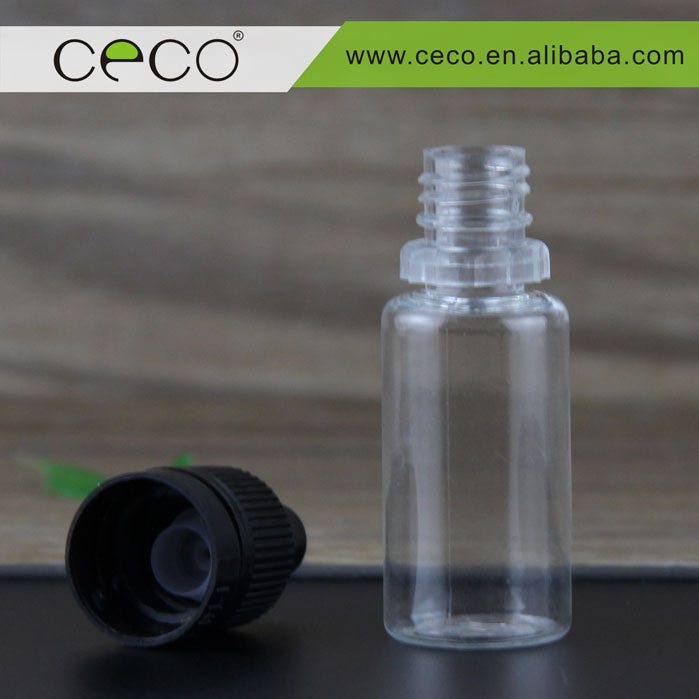 Pet bottle trade assurance for e liquid with OEM labels and packaging boxes TPD compliant 10ml pet bottle