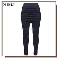 Women Wholesale Capri Printed Women Wearing Tight Nylon Spandex Brazilian Yoga Pants with Skirt