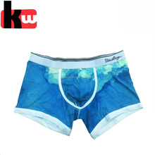 Fashion Men Boxer Briefs with Digital Printing Latex Male Underwear in Stocks