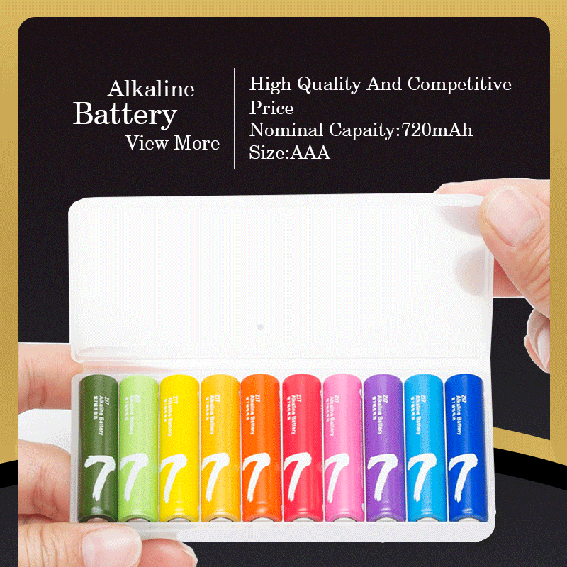 China Factory High Quality 1.5V Dry Alkaline Battery Various Specification R03 Battery Size AAA