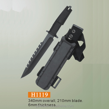 H1119 new design hot sell Outdoor survival fixed camping knife hunting tactical knife jungle king