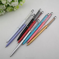 2 in 1 touch tip exquisite crystal metal roller ball pen