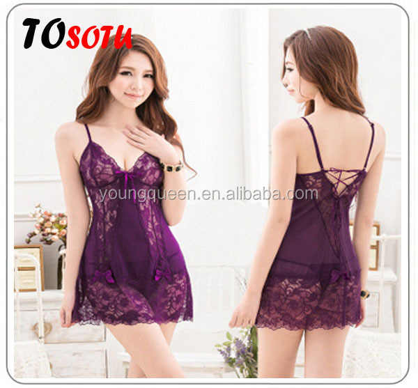 SYS11 Sexy bud silk bow skirt ,sexy lingerie hot transparent tight ,women's pajamas