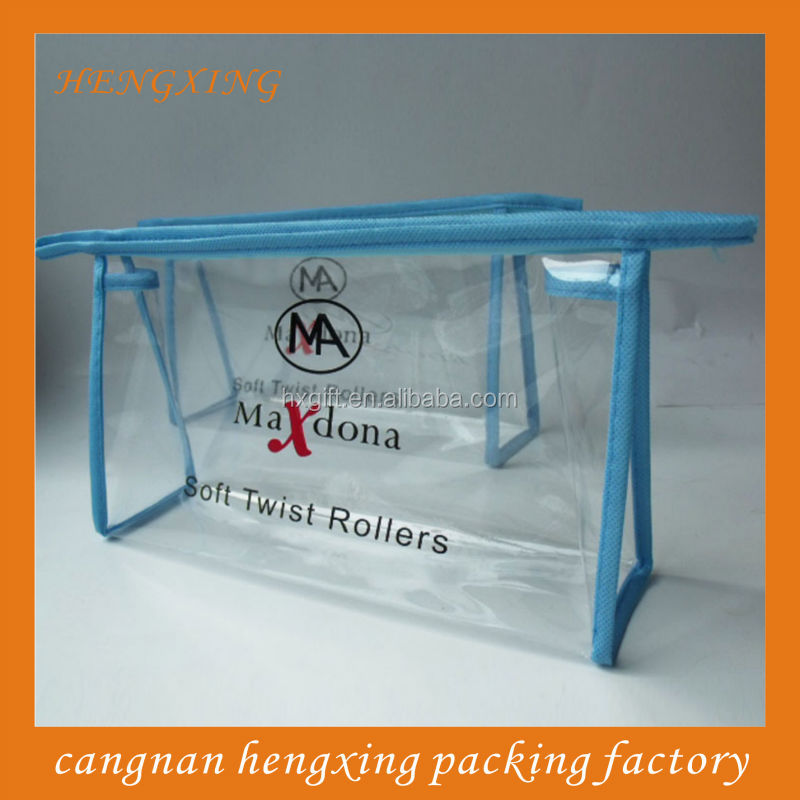 Travel Set Packaging PVC Sewing Zipper Standing Bags
