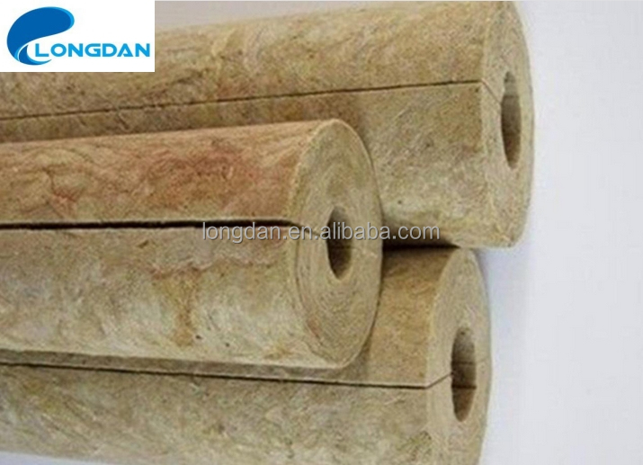 High Quality Customsize Waterproof Fireproof Rock Wool Pipe Insulation for Glass Pipe