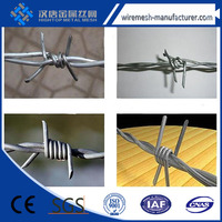 high quality galvanized barbed wire/stainless steel barded wire with low price