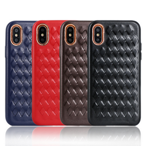 Leisure crazy horse texture pu leather phone case for iphone 8, rivet design for iphone 8 case