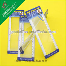 OEM promotional multifunction plastic ruler with magnifier