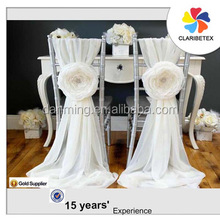 wholesales romantic chiffon flower chair covers chair sashes hood for wedding