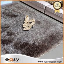Durable silk shaggy carpet supply type customized size floor rugs