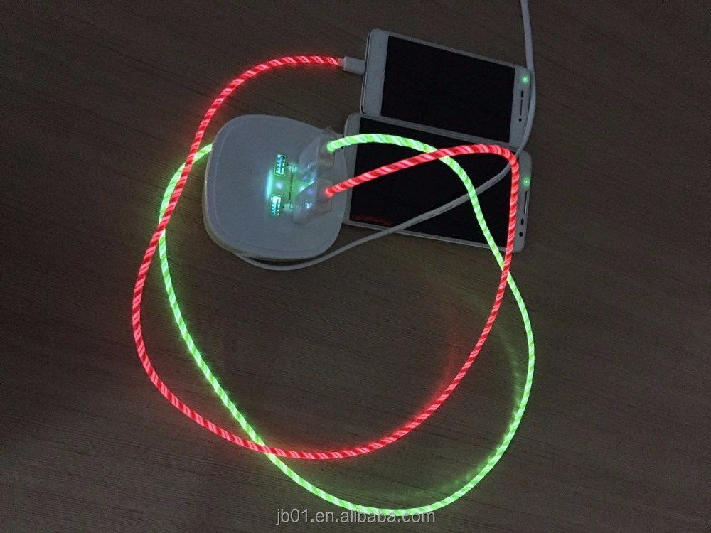 Millionwell Fashionable LED Flowing Light Micro USB Cable