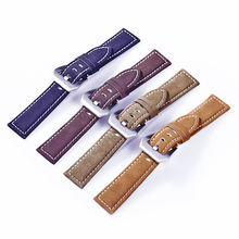 High Quality Cowhide Genuine Nubuck Leather Women Watch Strap