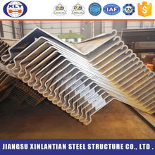 High tensile Z shape European standard retaining walls galvanized cold rolled steel sheet pile