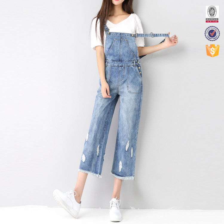 bulk oem overall design new style fashion girls jeans