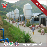 Yonggao Farming Best smooth inside and outside wall saving feed LRTM fiberglass farm bulk feed bins for sale