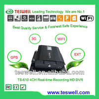 4 channels full D1 3g gps wifi MDVR for vehicle surveillance and fleet management can view from remote by mobile phone or PC