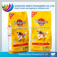 eco friendly large strong plastic pet food packaging bag