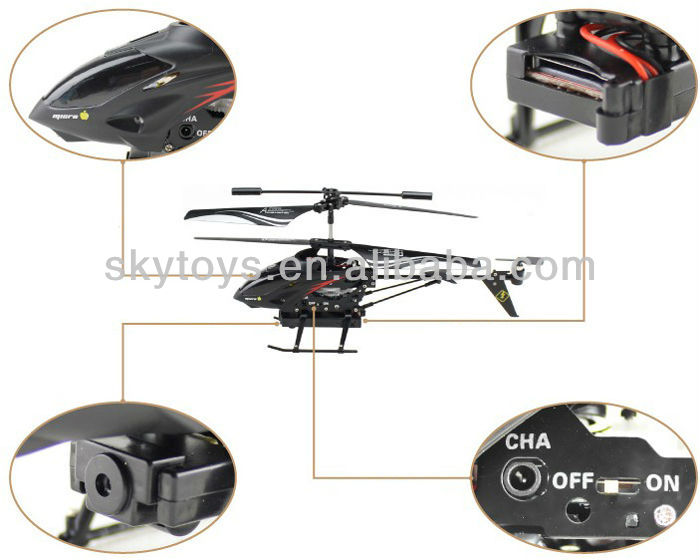 3.5CH Iphone android Remote Control rc Helicopters With Camera gyro wl s215