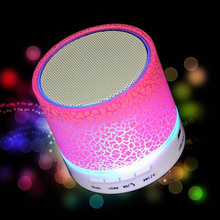 LED bulb Portable Mini wireless Bluetooth subwoofer trolley computer horn speaker With TF USB FM Mic Blutooth Music