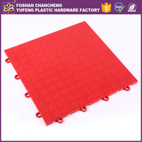Good protective PP copolymer UV stabilized interlocking floor tiles