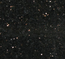 High quality slabs absolute black star galaxy granite with name