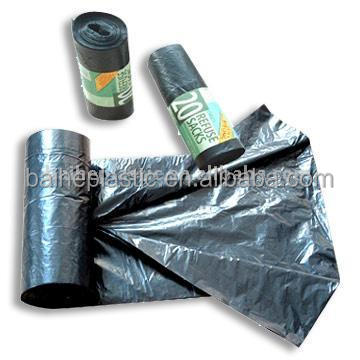 plastic PE trash/garbage bags with factory price