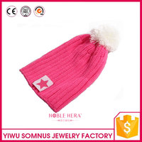 Hip Hop Knitted Pom Beanie Custom Beanie Hats Winter Knitted Hat for outdoor baby / boys / girls / children / infants