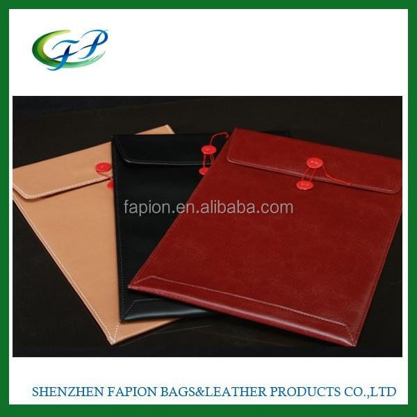 good quality laptop leather sleeve for 11.6 inch tablet pc