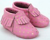 Factory fringe genuine leather moccasins hot leather shoes for baby