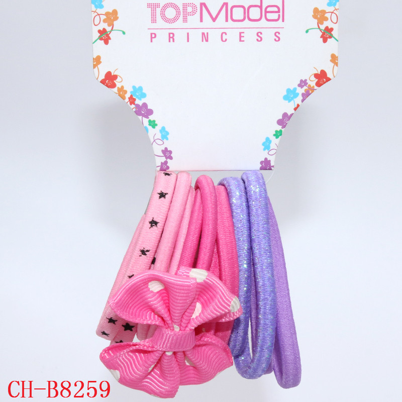 Fashion Women Girls Elastic Polka Dot Bow Knot Hair Band