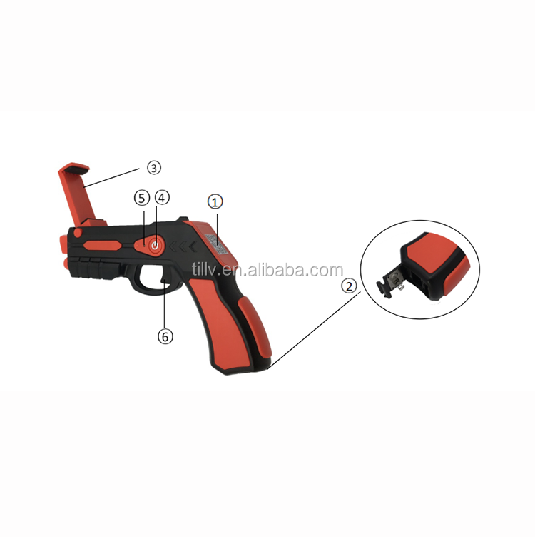 2017 hot selling bluetooth shooting AR gun game toys for children