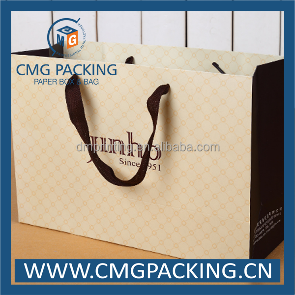 luxury beige paper bag for dress