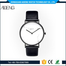 Hot selling luxury watches men all type of wrist watch Custom logo marble stone face Leather watches