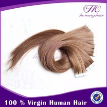Easy and simple to handle in stock virgin cuticle tape hair extensions
